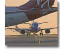 Photo of taxiway Delta at Los Angeles Airport