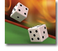 Photo of two dice rolling