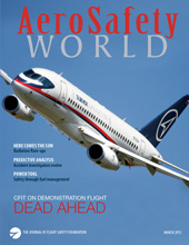 AeroSafety World March 2013 Issue Cover