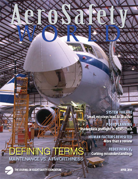 AeroSafety World April 2010 Cover