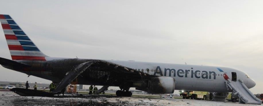 aircraft fire damage