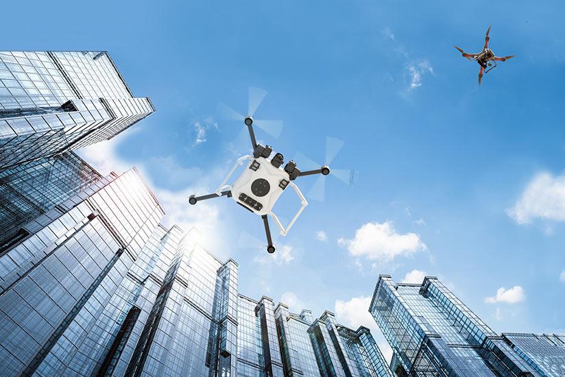 NASA concept of urban drones