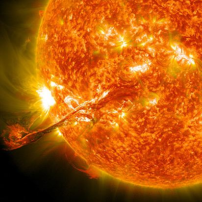 Illustration of a solar flare