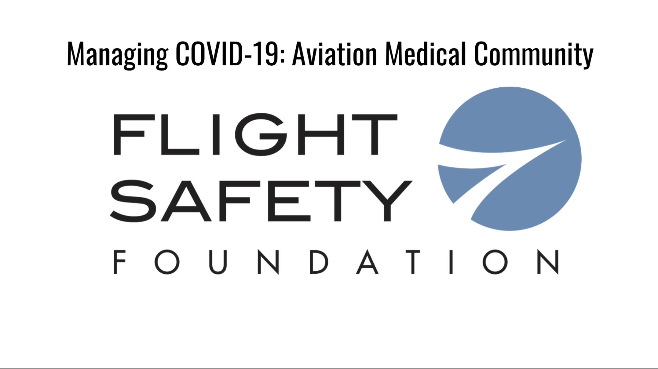 Managing COVID-19: Aviation Medical Community